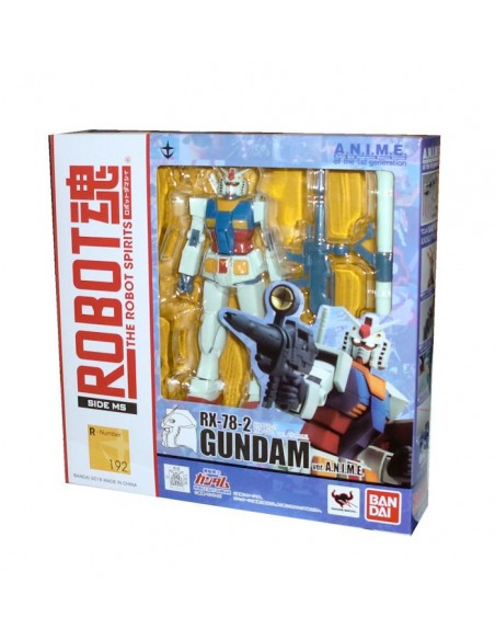 BANDAI ROBOT SPIRITS SIDE MS 192 GUNDAM RX 78 2 VER. ANIME FIGURE