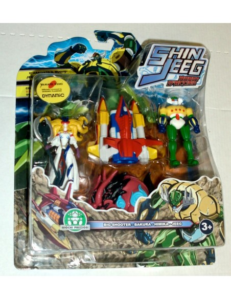 GIOCHI PREZIOSI SHIN JEEG 4 PACK MINI FIGURE SET 04 7CM NEW