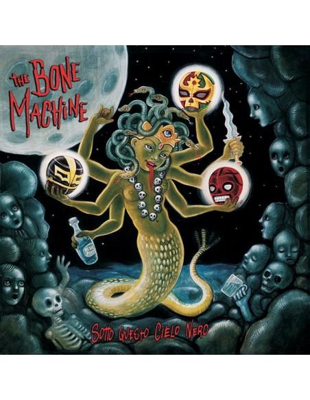 The Bone Machine LP Sotto Questo Cielo Nero Billy's Bones Rec Rock'n'Roll + CD