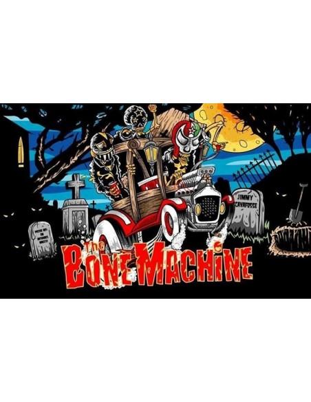 """The Bone Machine Adesivo Stikers """"Kustom Band"""" Billy's Bones Rock'n'Roll"""