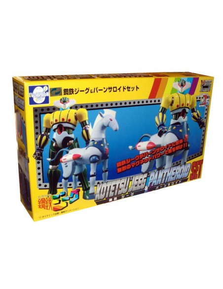 DYNAMITE ACTION S! KOTETSU JEEG & PANTHEROID ROBOT D'ACCIAIO DIE CAST